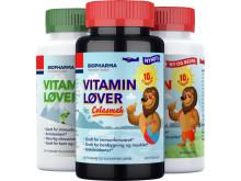 Vitaminløver trio