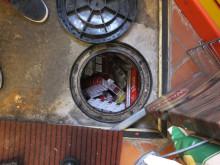 Op Batmobile - illicit tobacco products hidden under shop floor NW04/15