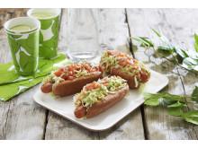 Compteto - fargerike pølser med grønnsaker