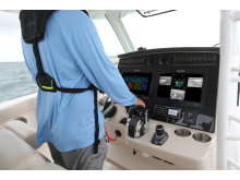 High res image - Raymarine - DockSense Alert on helm of Boston Whaler 380 Outrage