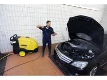 Kärcher HDS- E Høytrykksvasker - Bilverksted, rengjøring av bil