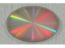 Fotografi av en 1 cm stor diamantkoronagraf.