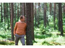 Gunde Svan i skogen