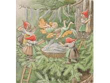 """Elsa Beskow, """"Ocke, Nutta och Pillerill"""", 1939, akvarell"""