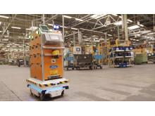 Selbstfahrender Roboter in der Produktion