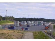 Containerhanteringen på Vaggeryds kombiterminal