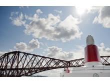 Black Watch sailing under the Forth Rail Bridge, Edinburgh