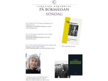 Bokmässan söndag Carlsson Bokförlag