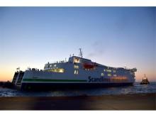 Scandlines' nye hybridfærge på prøvesejlads