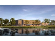 Nye Nidarøhallen - Fasade Vest