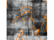 Bowes Museum panel Xray marked close up of figure (possibly shepherd) (photo credit Northumbria University and The Bowes Museum)