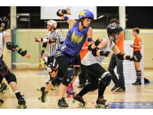 Stockholm Roller Derby mot Crime City Rollers