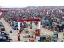 Containers in the port of Shanghai, China.