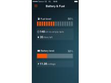 Koenigsegg One:1 app Battery & Fuel