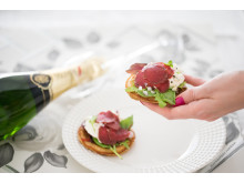 Riimiporo-pancakes;  Kuva ja resepti: Herneetkin rokkaa -blogi.