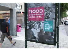 Skylt Nedskräpningskampanj