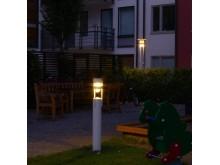 Bild 2. Kv. Konvojen i Hammarby Sjöstad. Fox Design har levererat belysningen.