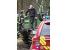 Riskhantering avseende brand vid skogsarbete, stående