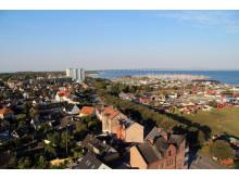Utsikt över Limhamn, vid HSB brf Gråsejen