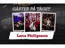 Lena PH i MTR Express Talkshow På Tåget med Tilde. (Foto: Jay Veesualz)