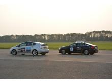 Team Halmstads bil i tävlingstrafiken