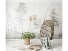 Scandinavian Surface - Panorama Grey - Photowall