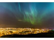 Nordlicht über Trondheim