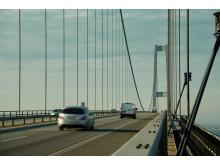 Vejbanen på Storebæltsbroen