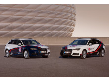 Audi A3 Sportback e-tron cars to advertise the Audi Cup - Bayern München and Milan