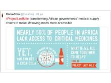 Coca-Cola kombinerar tweets med grafik