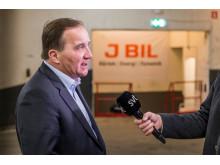 Statsministern intervjuas