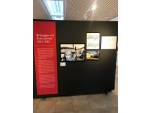 Del av utställningen om Uno Åhrén på Rackstadmuseet.