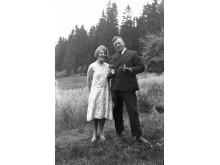 Lizzie Skoglund med sällskap; Foto Harald Olsson; 1930; Alingsås museums bildarkiv