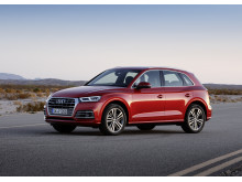 Audi med quattro nr 8 mio er en Q5 quattro i Garnet red