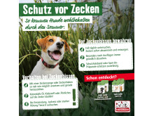 Infografik: Zeckenschutz beim Hund