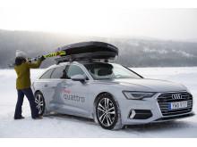 Alpina landslaget testkör Audi A6 Avant på HVO100