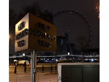 New Scotland Yard sign in darkness for Earth Hour - image 2