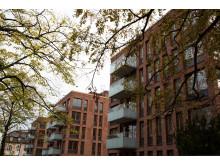 Brf Stadsparkshusen i kvarteret Bävern, Trelleborg