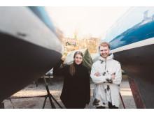 Jannica Hedlund Vice VD och Måns Daniel restaurangchef Boulebar Tanto