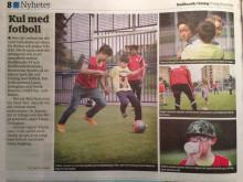 Fotbollskul på Håsta, reportage och bilder i HT