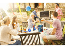 Barbecue with home brewed beer