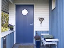 JELD-WEN ulko-ovimiljöö F2050 W68 sininen talo
