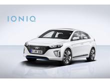 Hyundai IONIQ Hybrid skrått forfra (venstre)