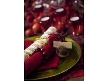 Röd vintagejul med julstjärnor 1