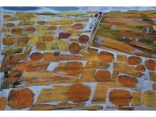 Vatten på Vickleby. Målning av Håkan Albeman