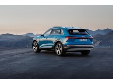 Audi e-tron (Antigua blue) rear, statisk