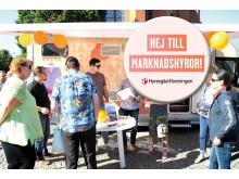 Hyresgästföreningen region norra Skåne ut på valkampanj mot marknadshyror.