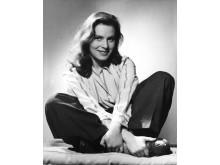 Skådespelerskan Viveca Lindfors, 1943. Foto Kerstin Bernhard, Nordiska museet