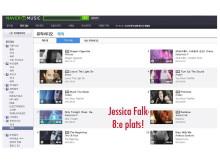 Rainbow, Jessica Falk, på Korea Topp100 lista
