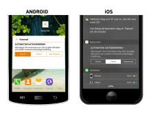 Easyroad widget - så här ser det ut i din smartphone